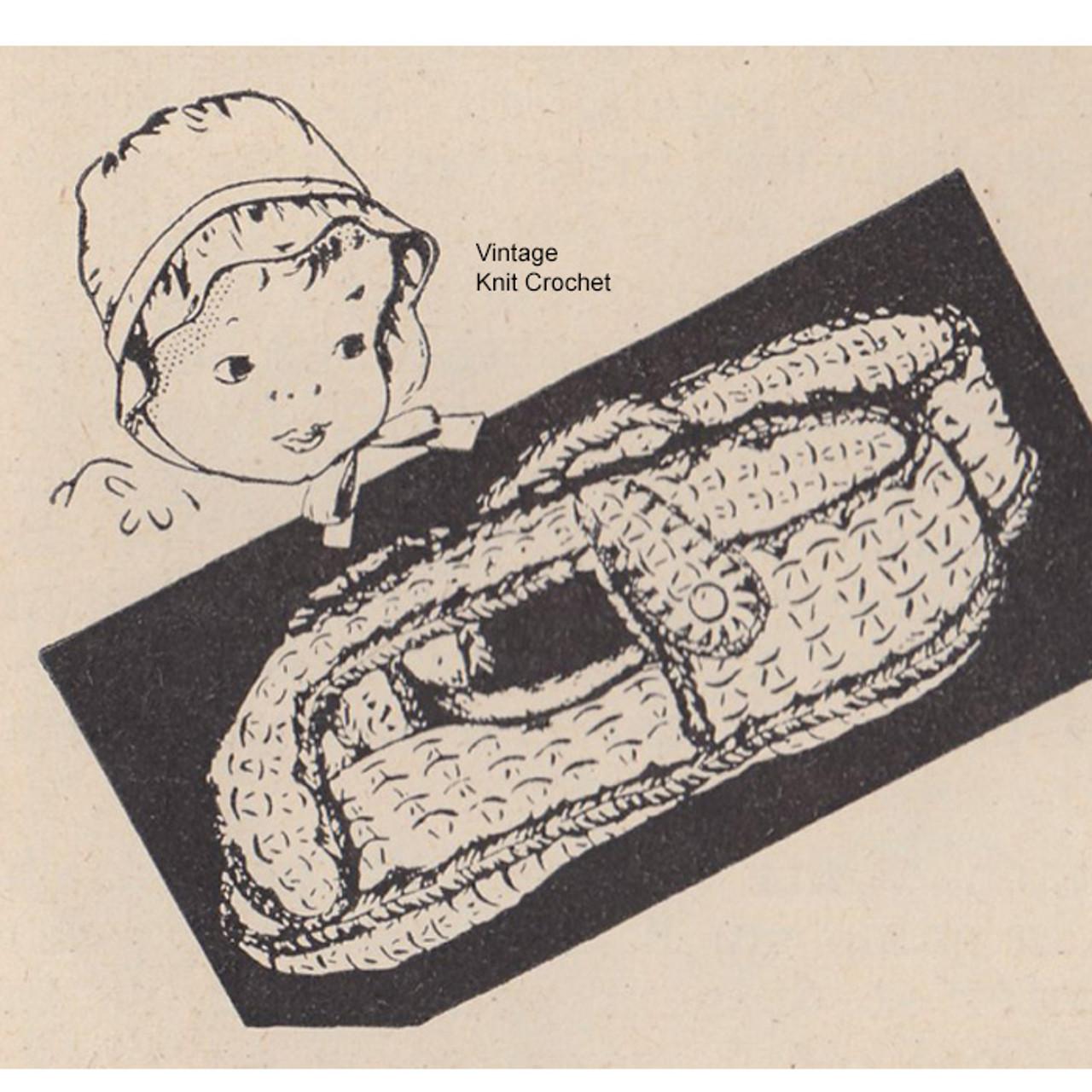 Free Infant Crocheted Sandals Pattern, Vintage Workbasket