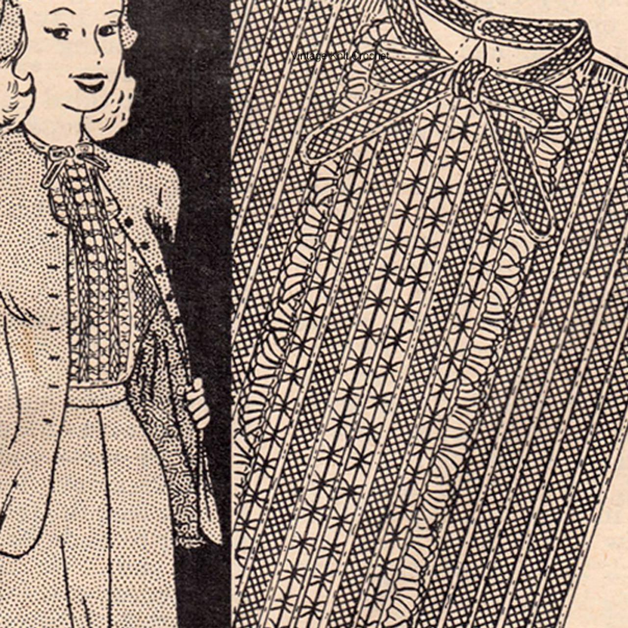 Workbasket Ruffled Vestee Crochet Pattern