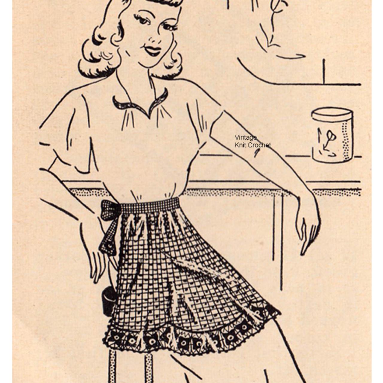 Workbasket crocheted apron pattern