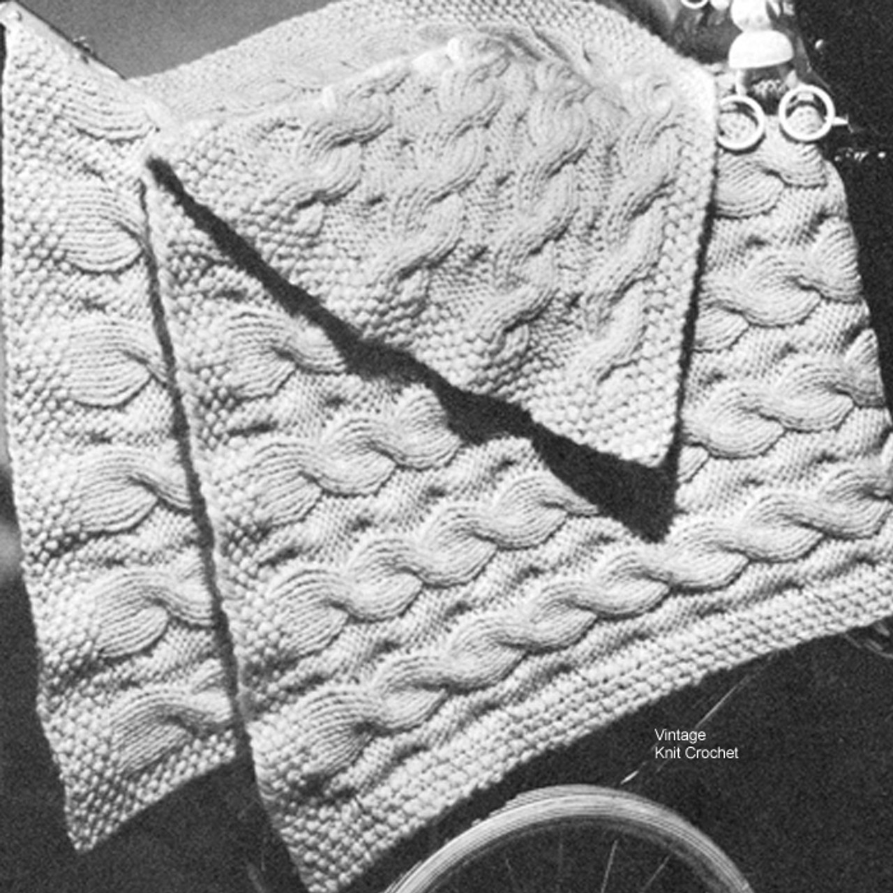 Cable Crib Cover Knitting pattern in cables