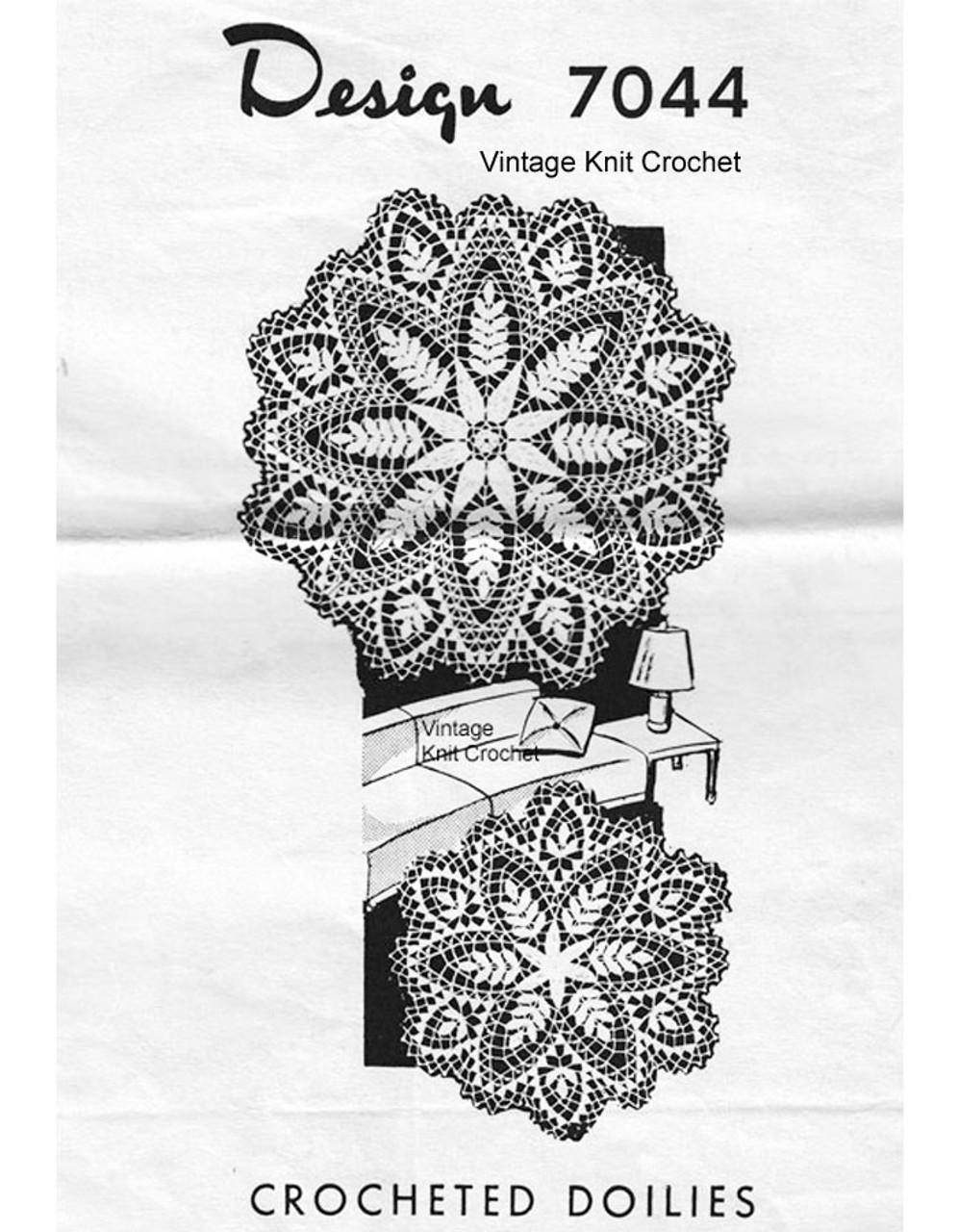 Fern Doily Crochet Pattern, Alice Brooks 7044