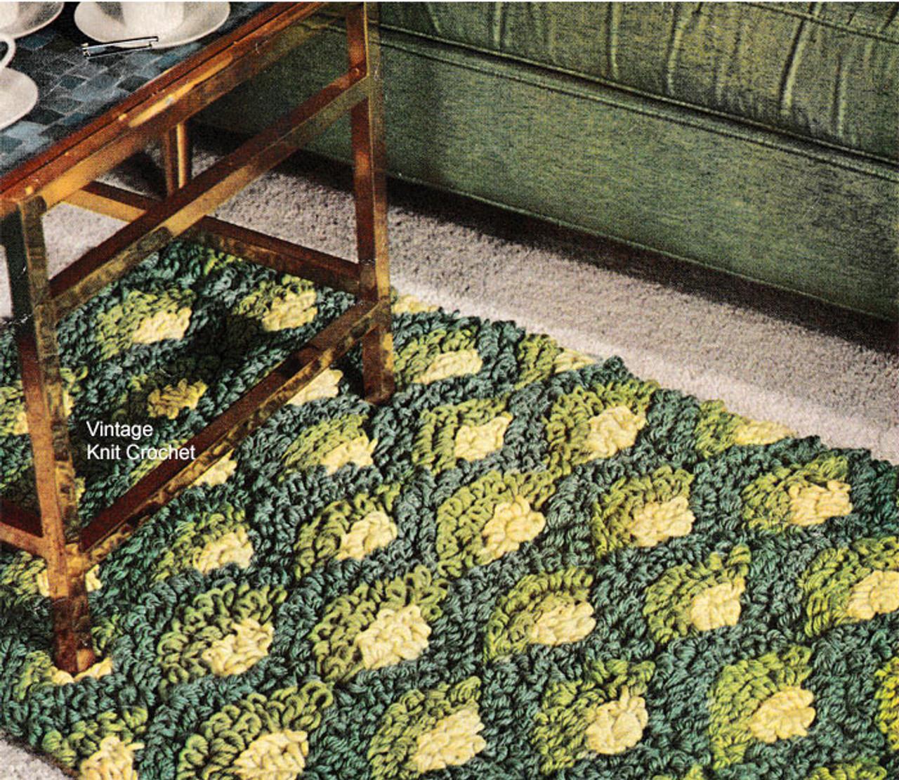 Crochet Rug Pattern, Shell Motif