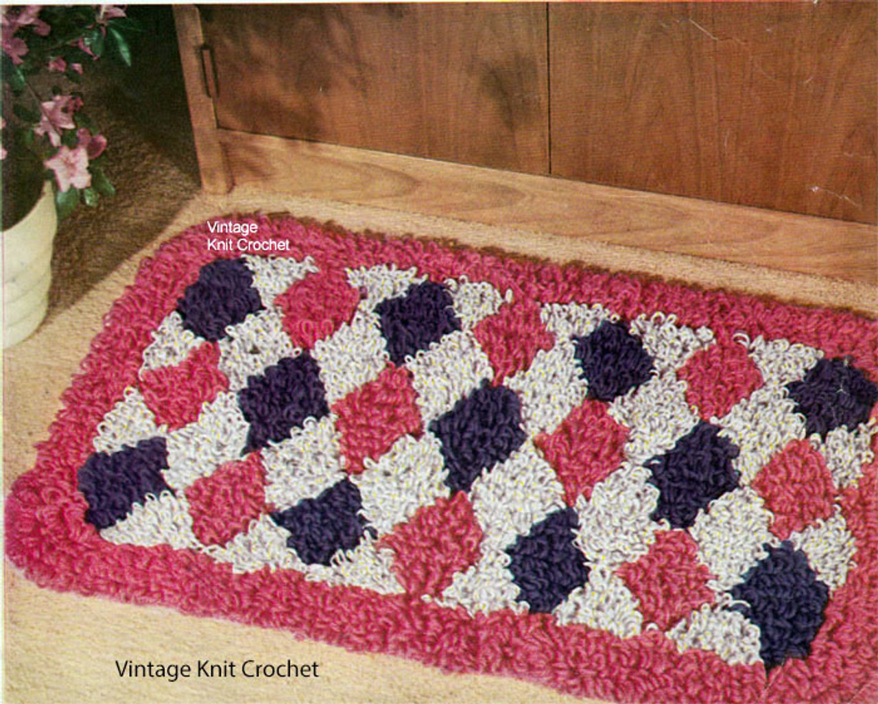 Harlequin Rug Crochet Pattern