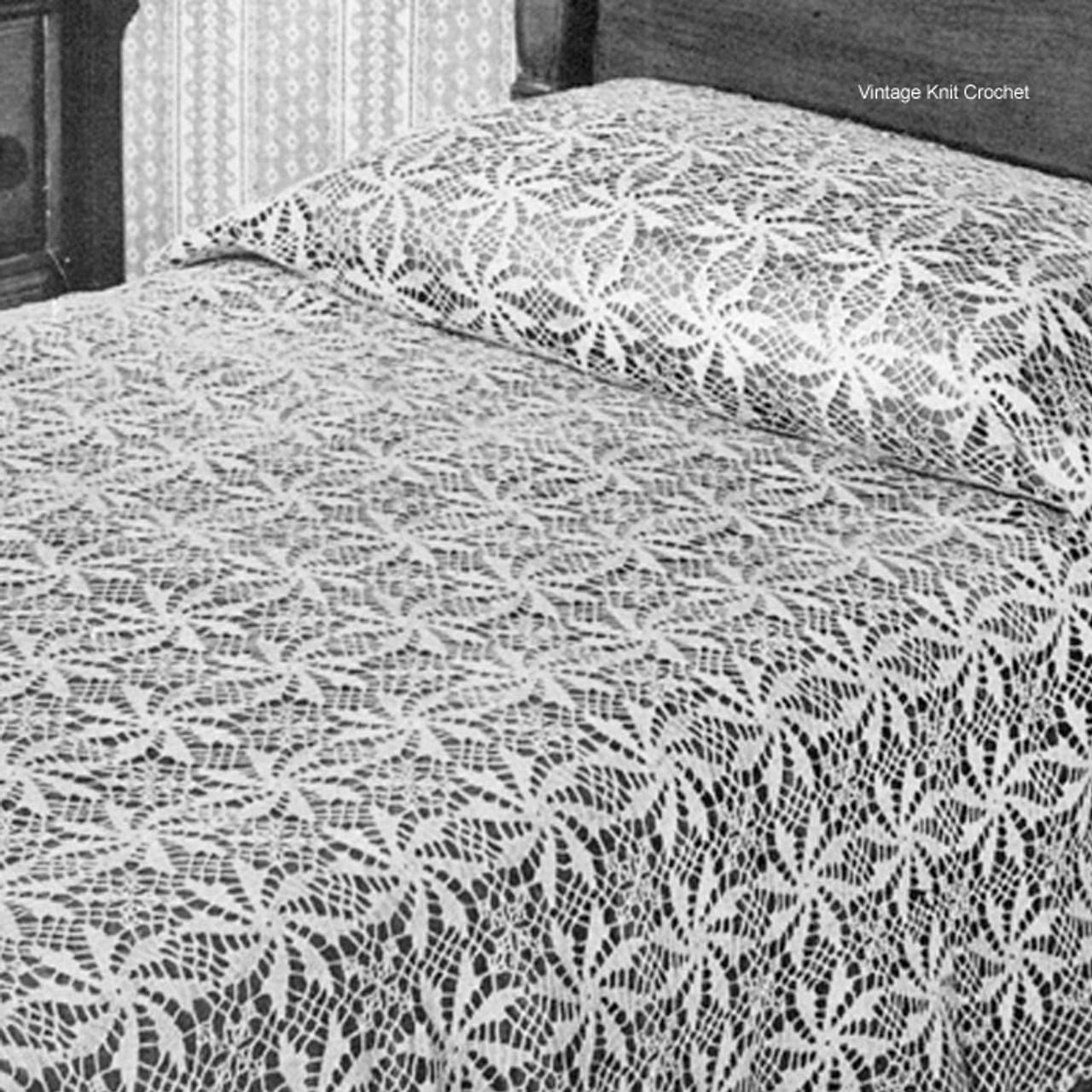 Flower Crochet Bedspread Pattern No 6105