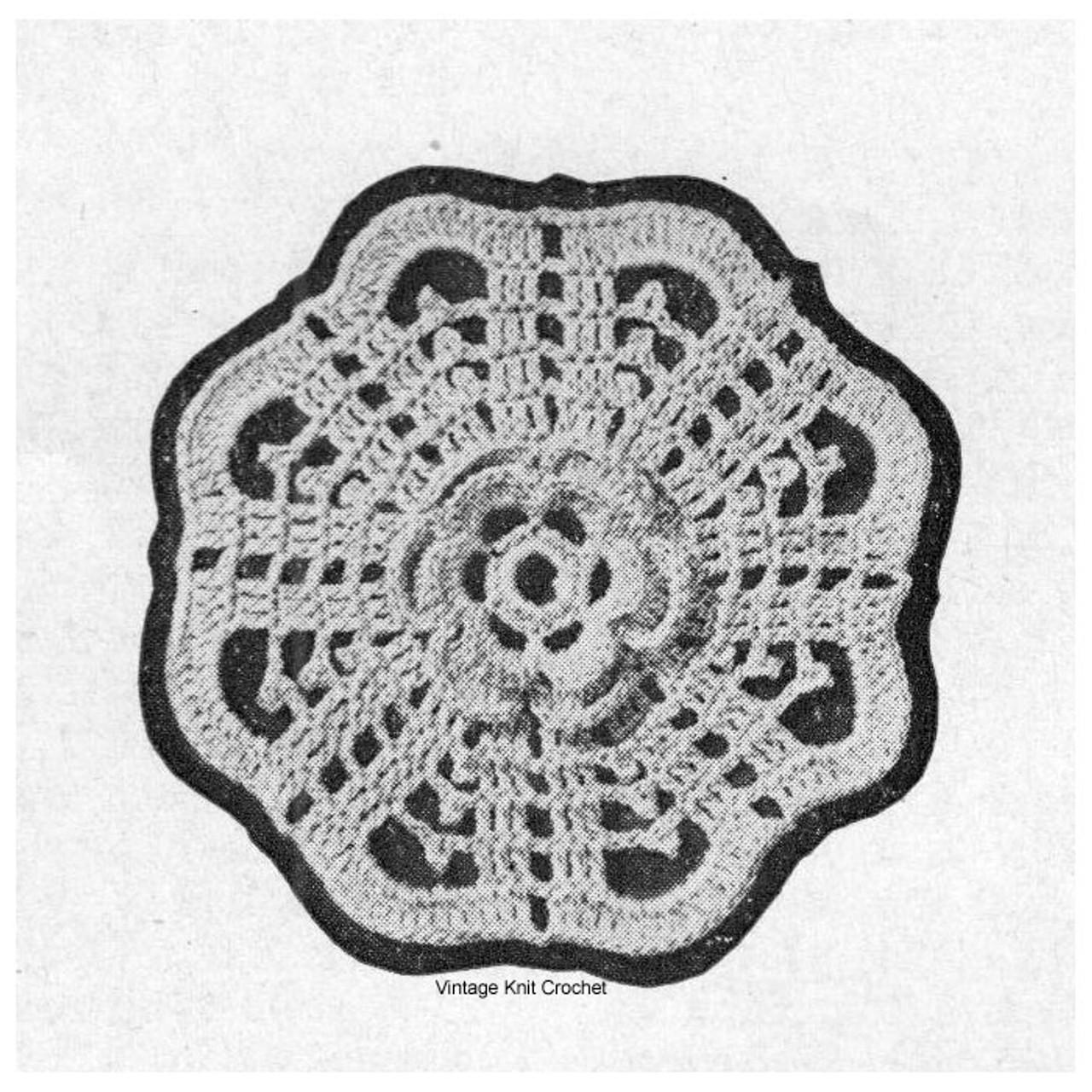 Talisman Crochet Medallion is 3-1/4 inches