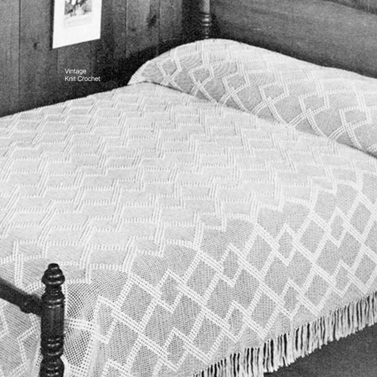 Diamond Crochet Bedspread pattern, Kimberley