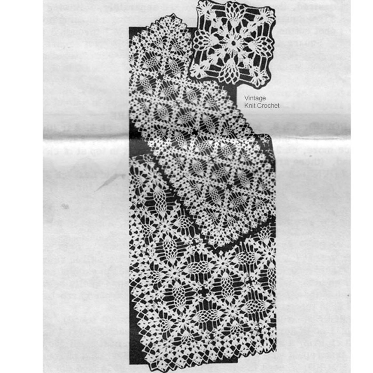 Laura Wheeler 868, Pineapple Tablecloth Pattern
