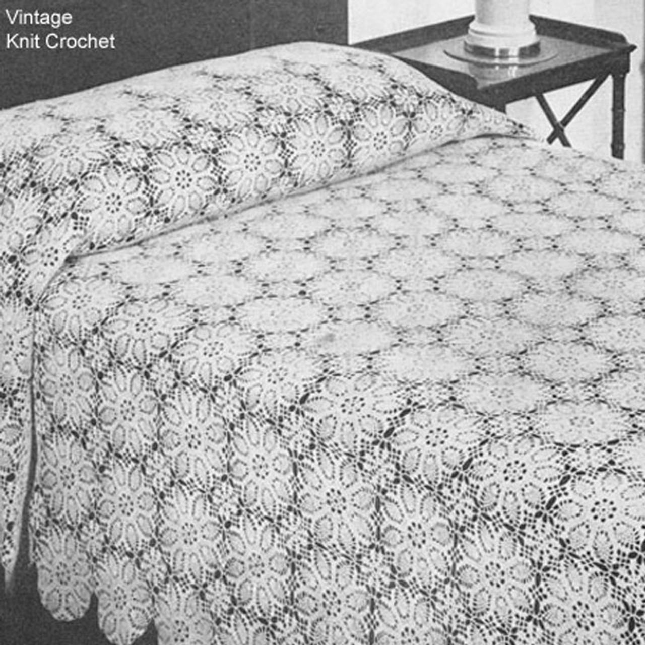 Round Pineapple Medallion Bedspread Crochet Pattern