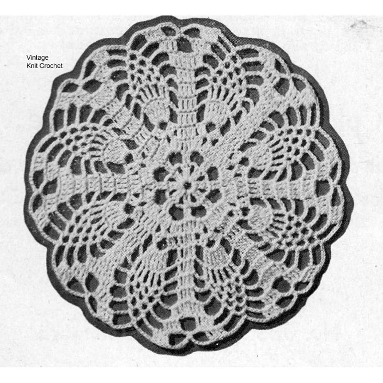 Round Pineapple Medallions Crochet Pattern