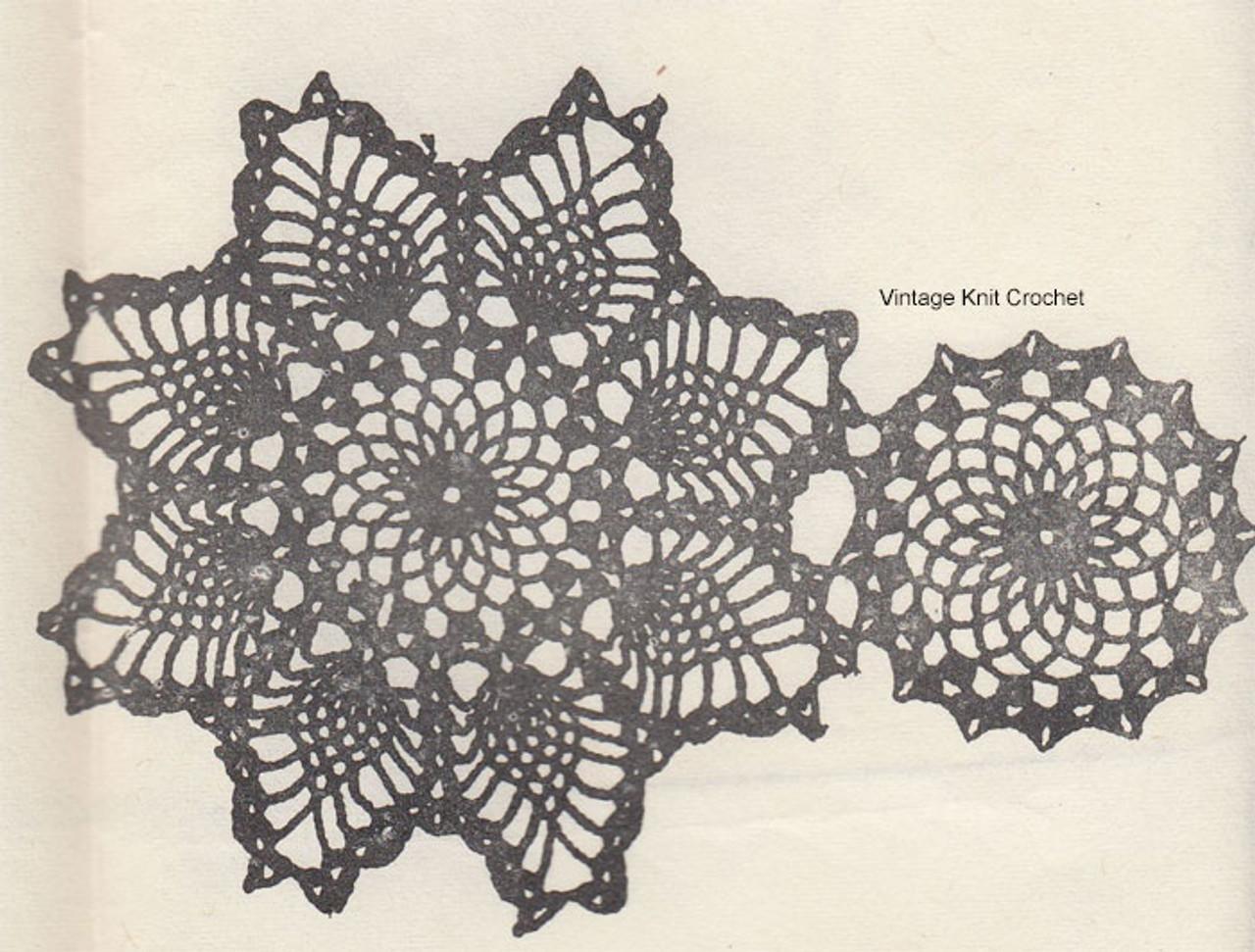 Crochet Pineapple Medallion and Fill Motif