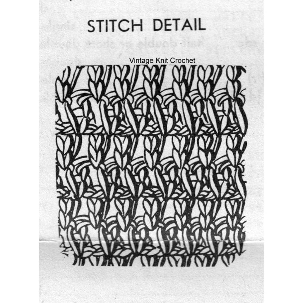 Crochet Barrett Stitch Illustration