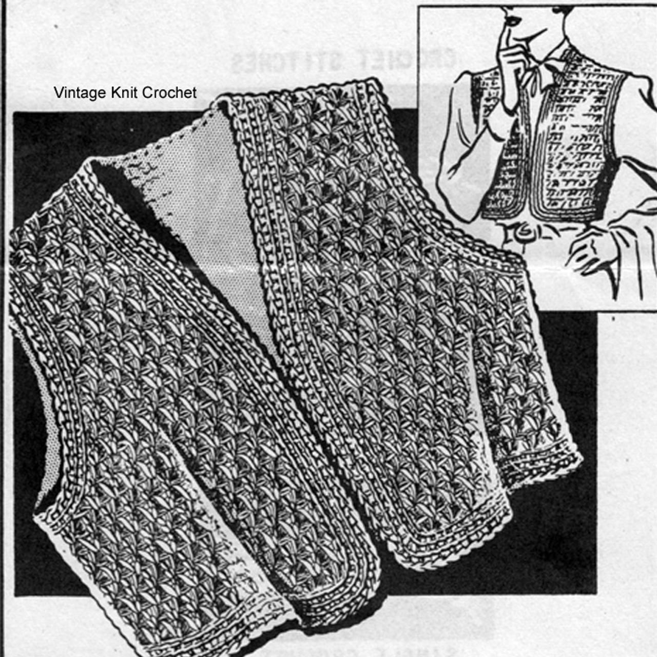 Plus Size Crochet Shrug Pattern, Anne Cabot 5213