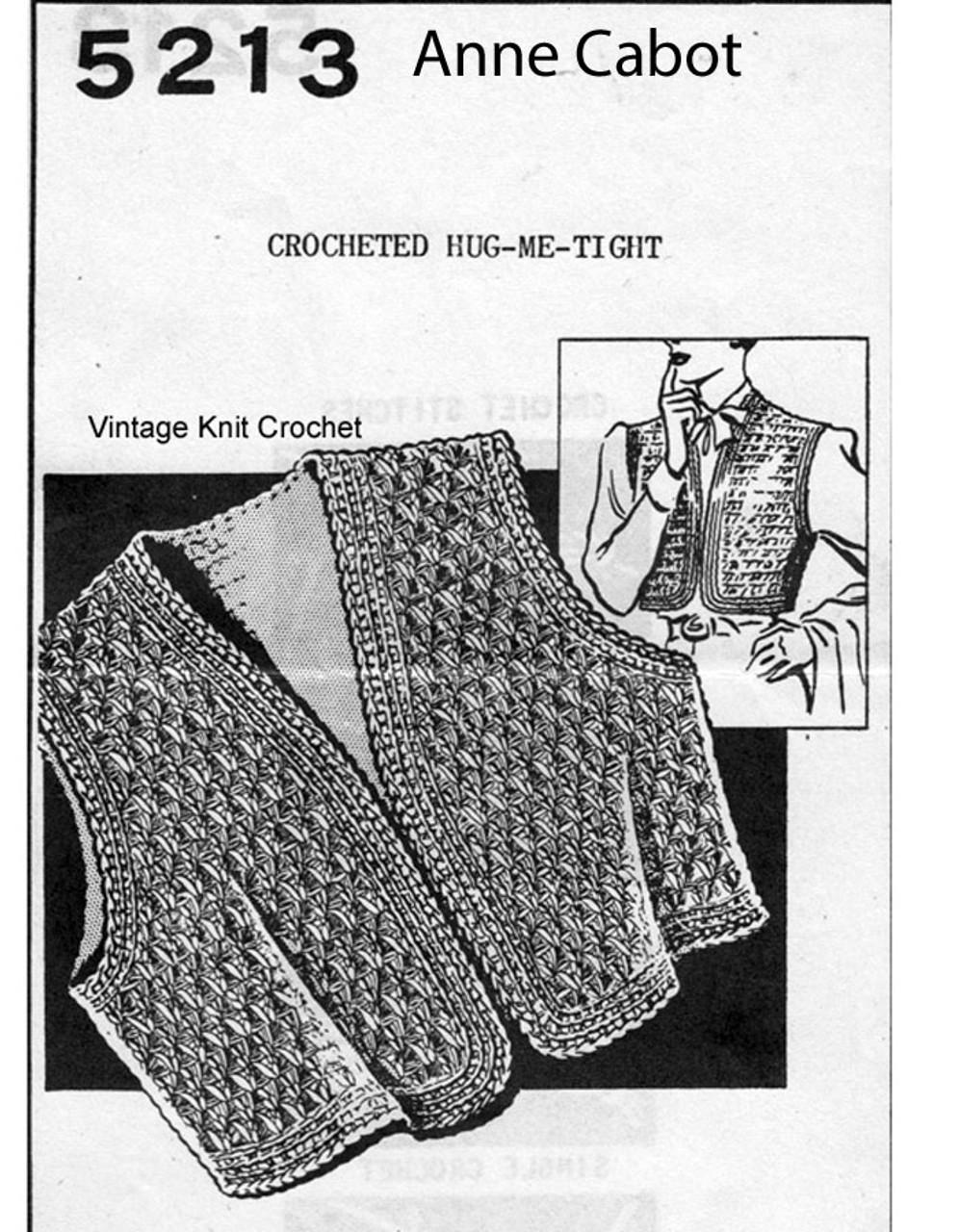Womens Crochet Bolero Pattern No 5213