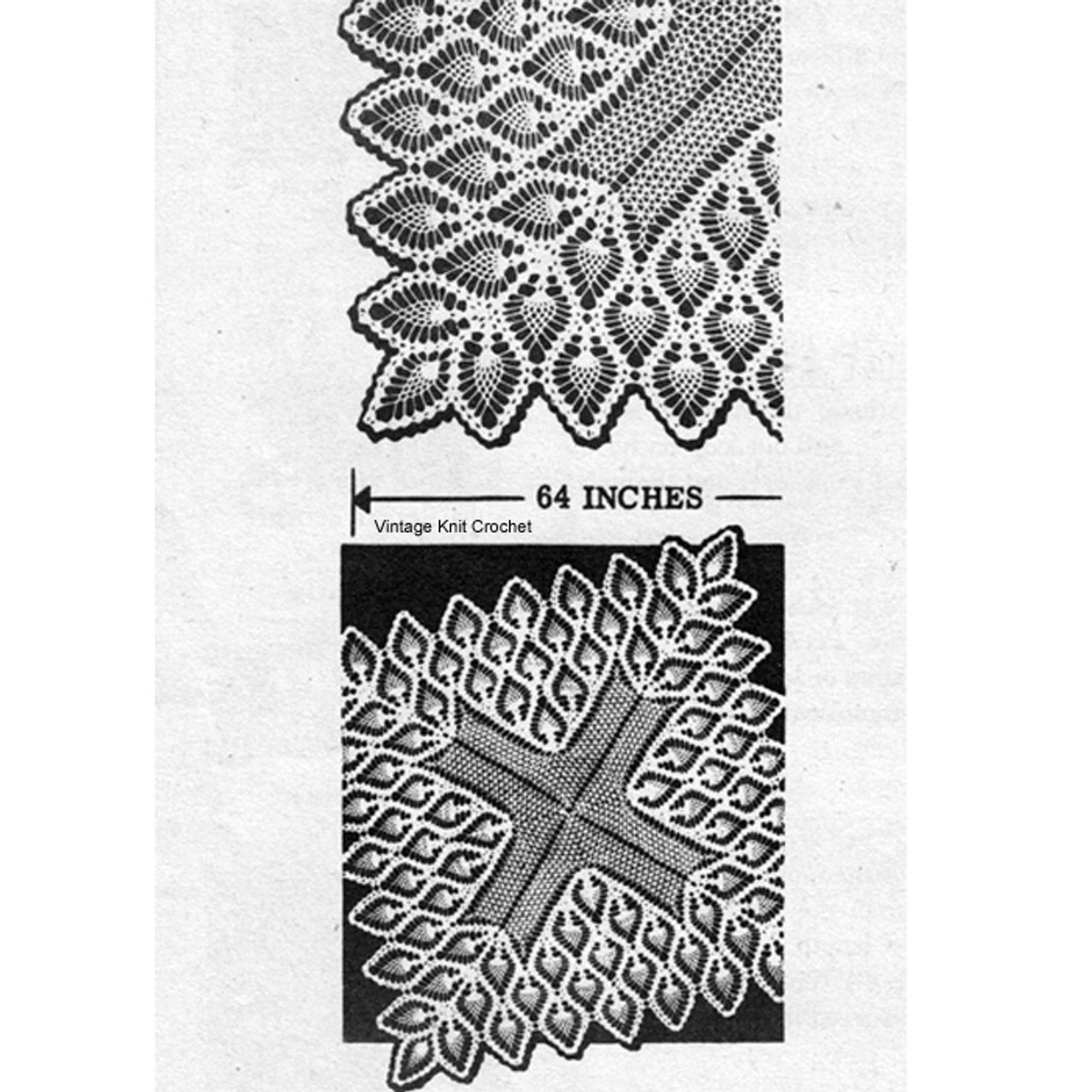 Square Pineapple Crochet Cloth Pattern Alice Brooks 7067