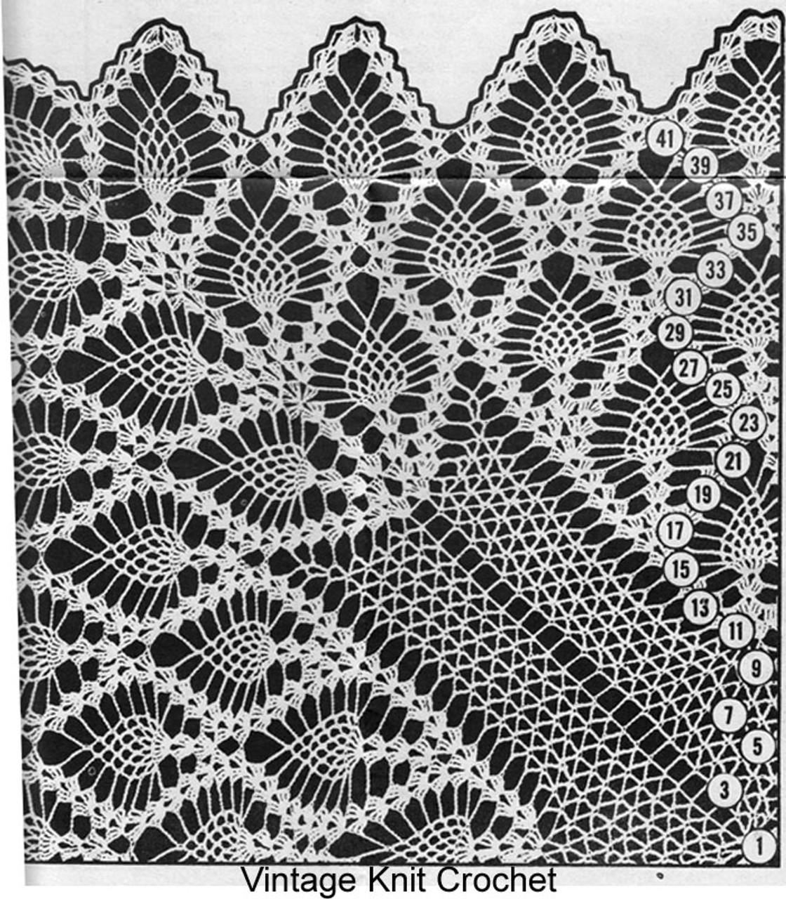 Crochet Tablecloth Pattern Stitch Illustration, Alice Brooks 7067