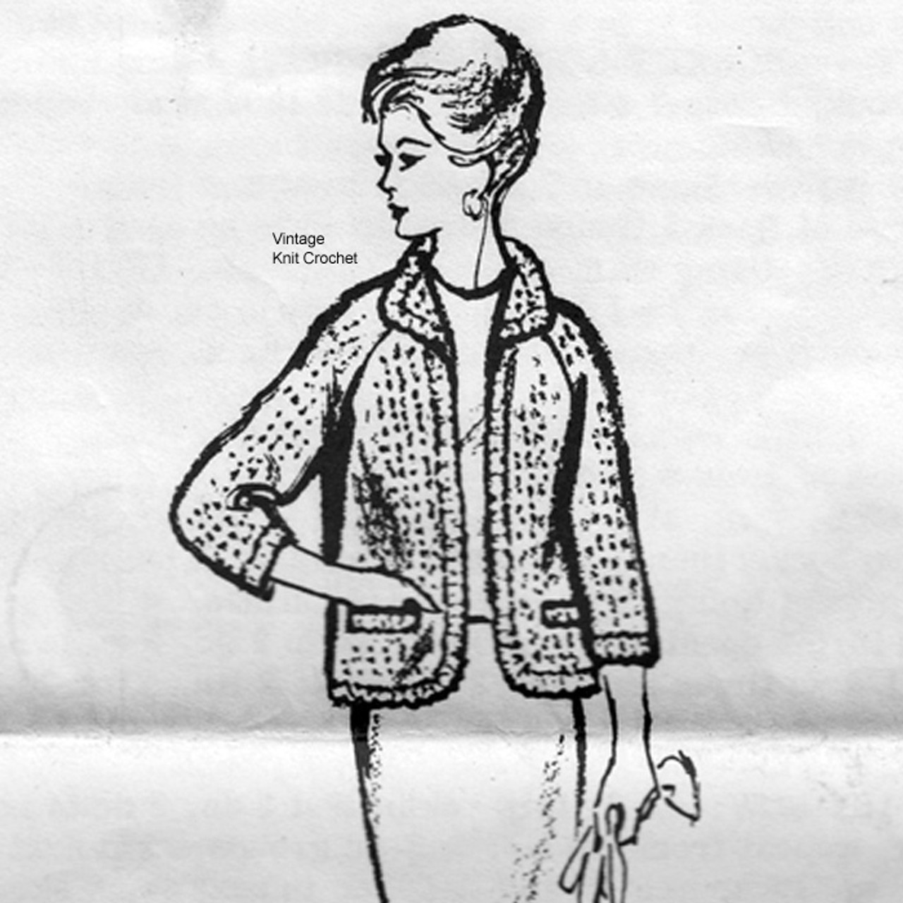 Plus Size Crochet Jacket Pattern, Mail Order 9079