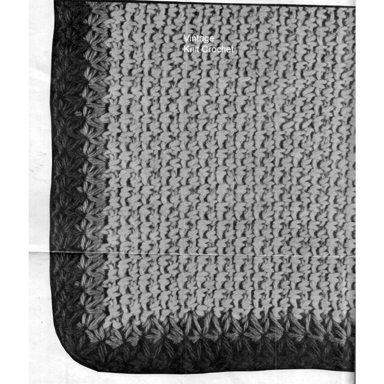 Star Stitch Border on Crochet Jacket