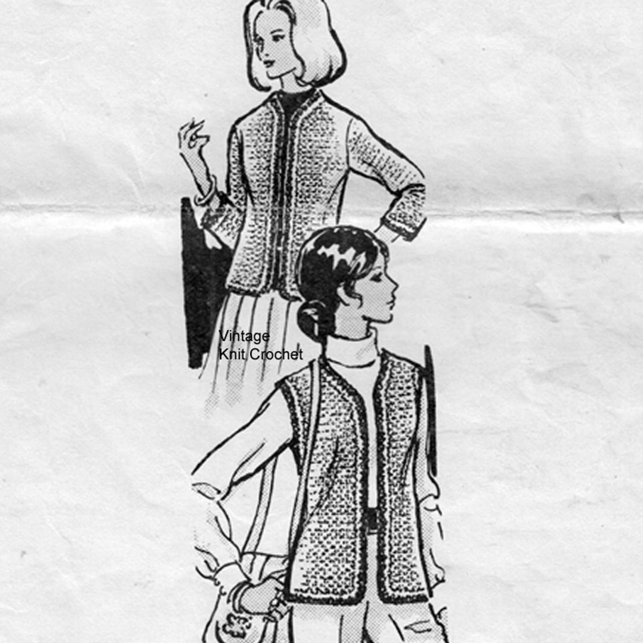 Sleeveless Jacket Crochet Pattern Mail Order 7377