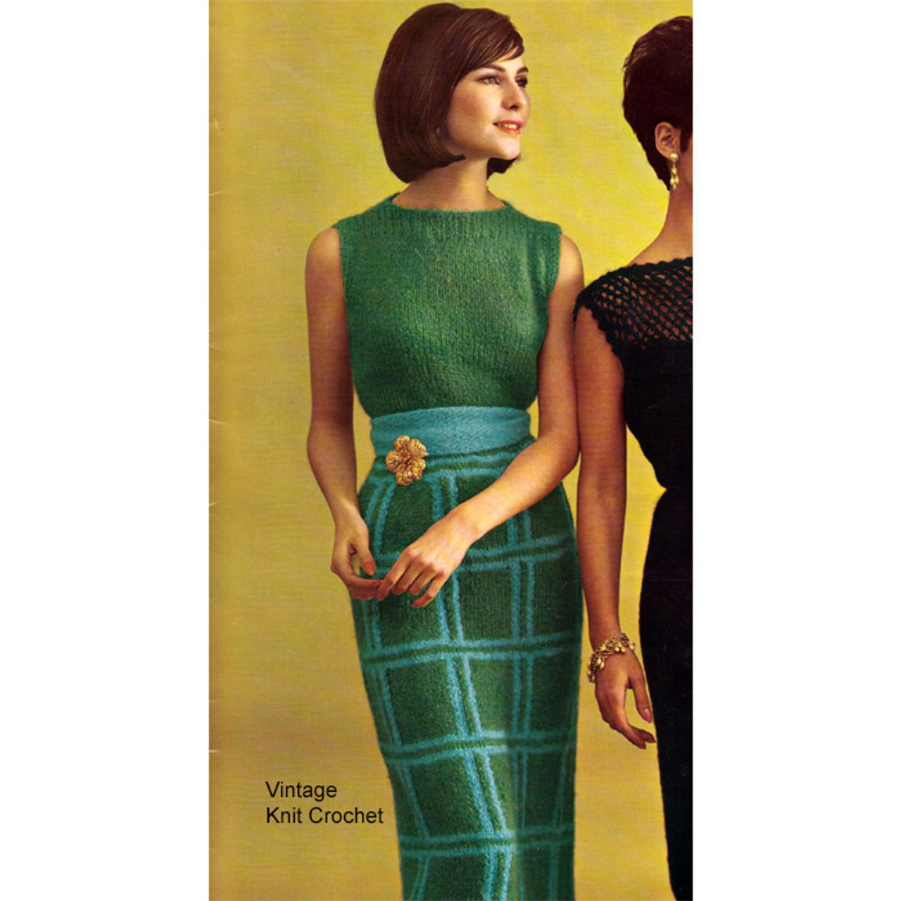 Knitted Mohair Maxi Dress Knitting Pattern