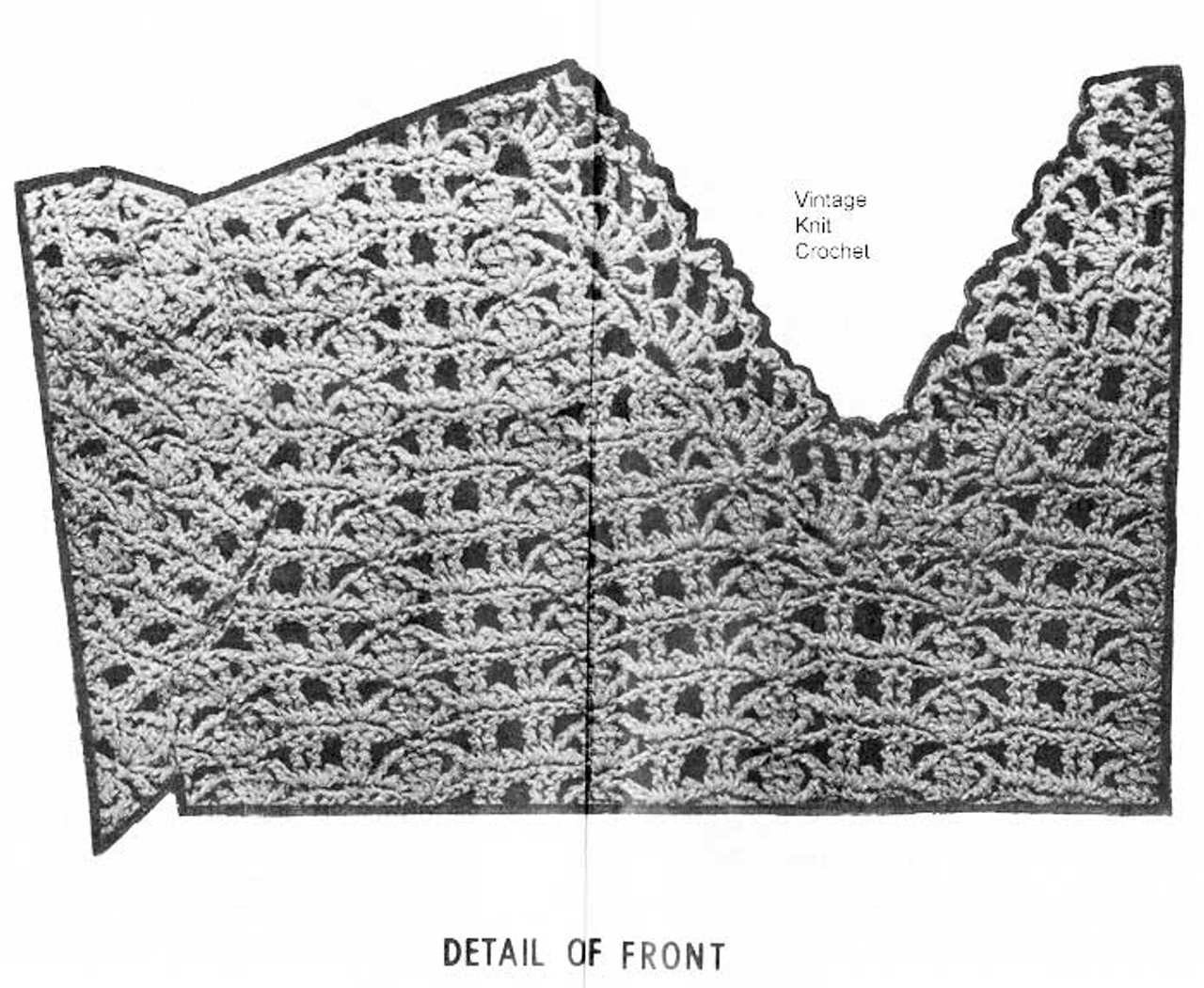 Crochet Blouse Pattern Illustration Design 7576
