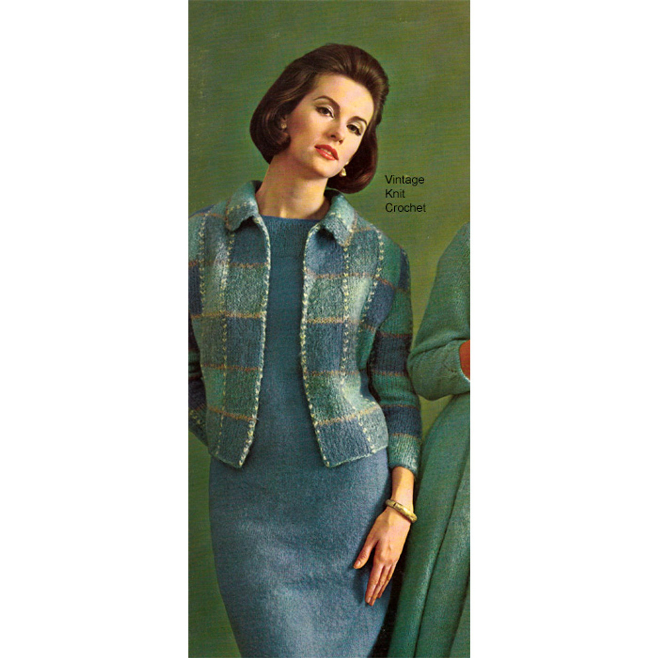 Mohair Knit Dress and Jacket Pattern, Two Piece Suit