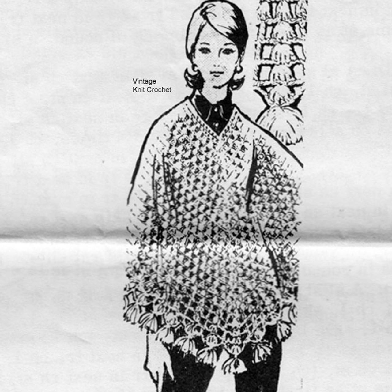 Mail Order Crochet Poncho Pattern Design 7281