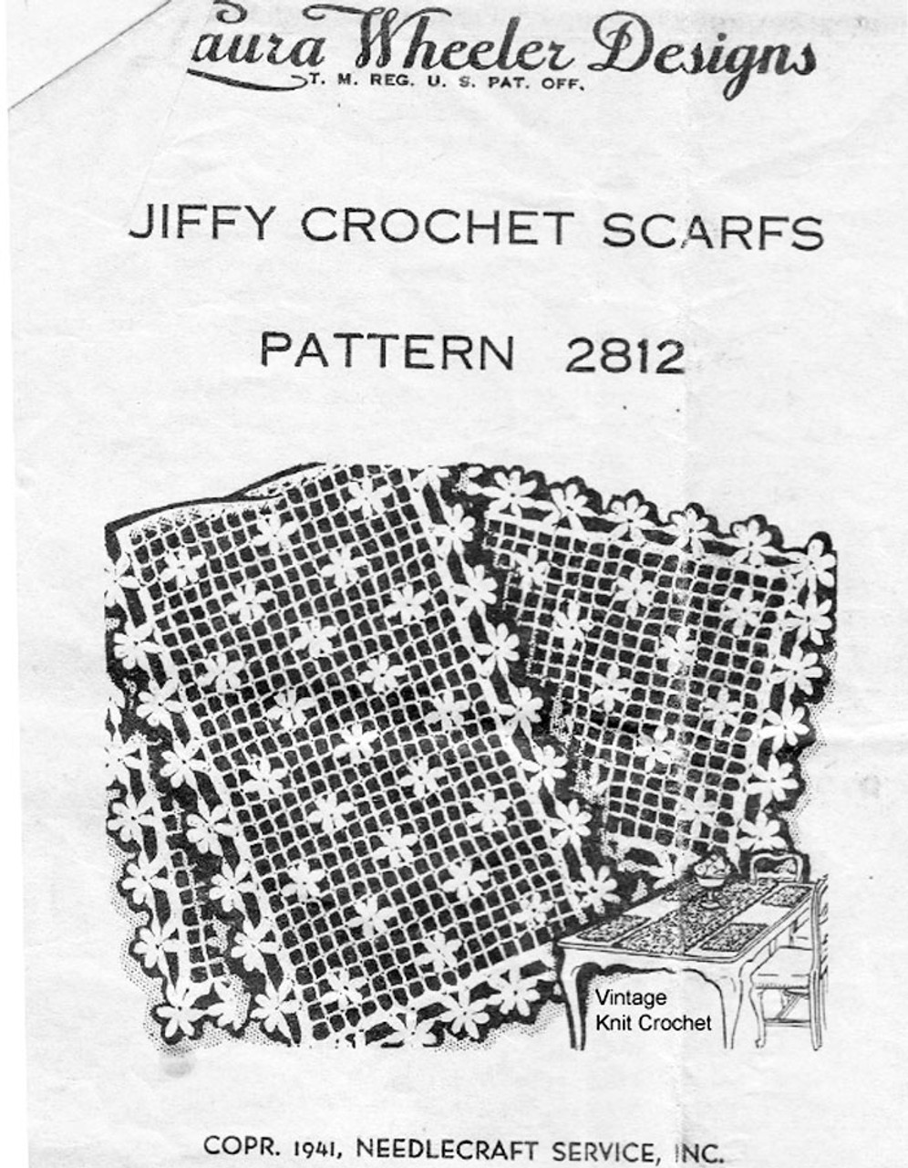 Crochet Daisy Runner Pattern, Laura Wheeler 2812