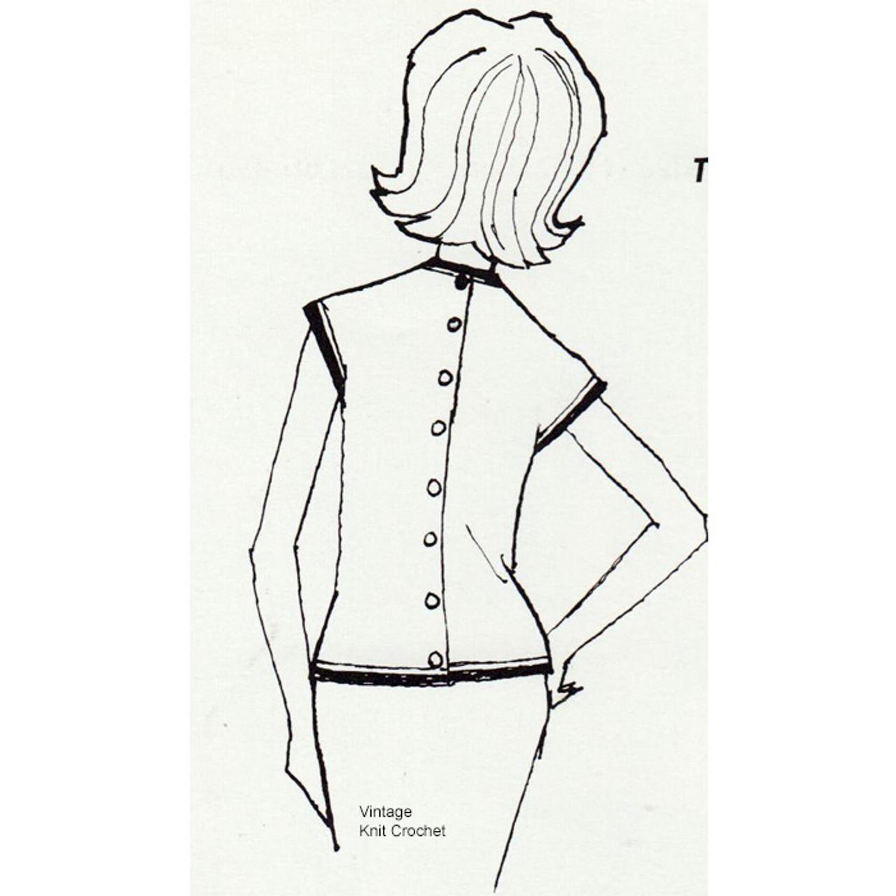 Back Buttoned Knit Dress Pattern