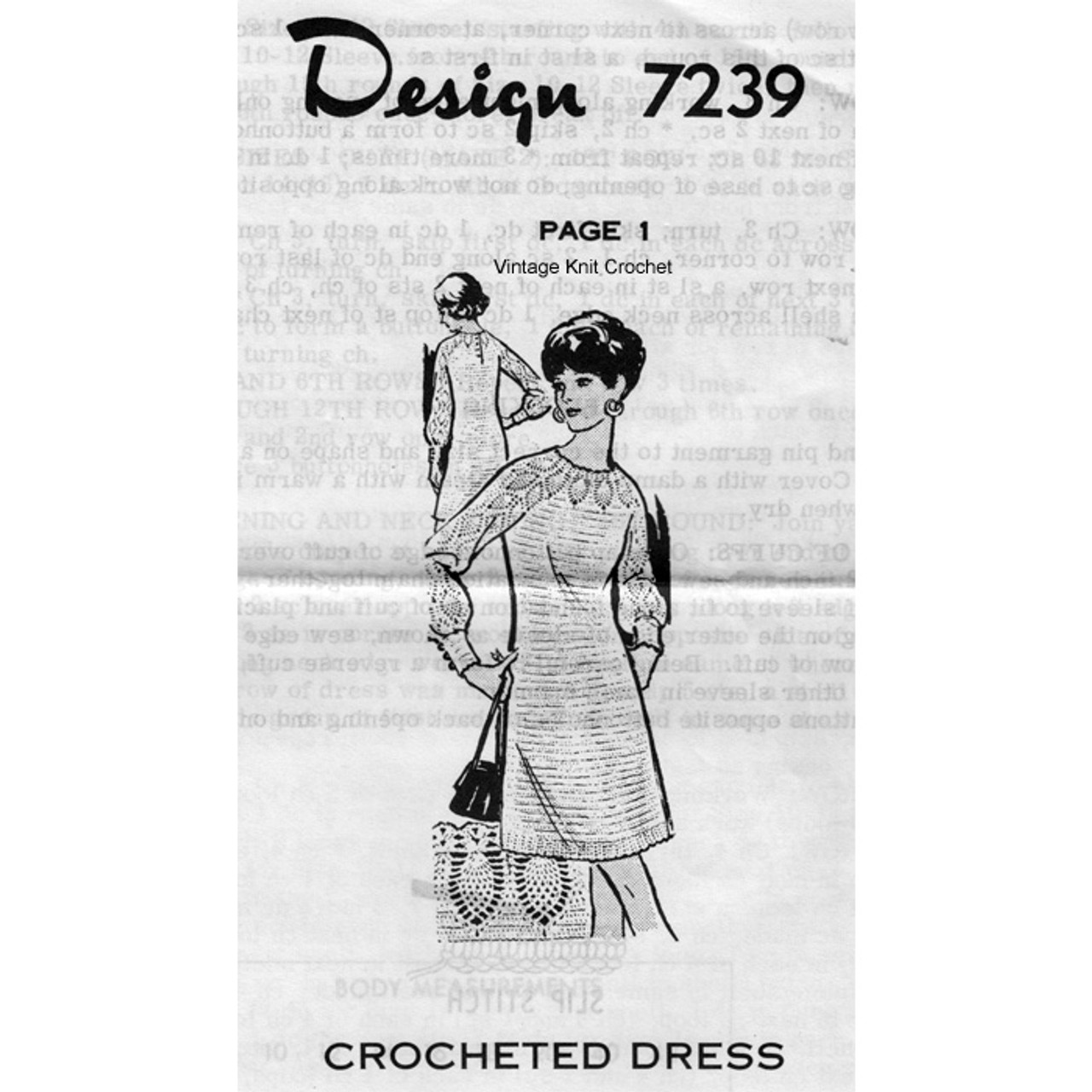 Alice Brooks 7239, Crochet Pineapple Dress Pattern