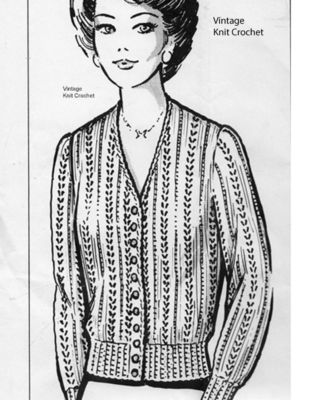 Lace Cardigan Knitting Pattern, Anne Cabot 5097