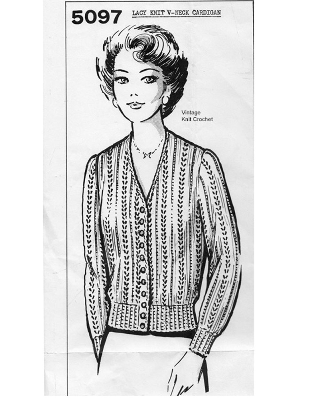 Knitted Lace Blouse Pattern, Mail Order 5097
