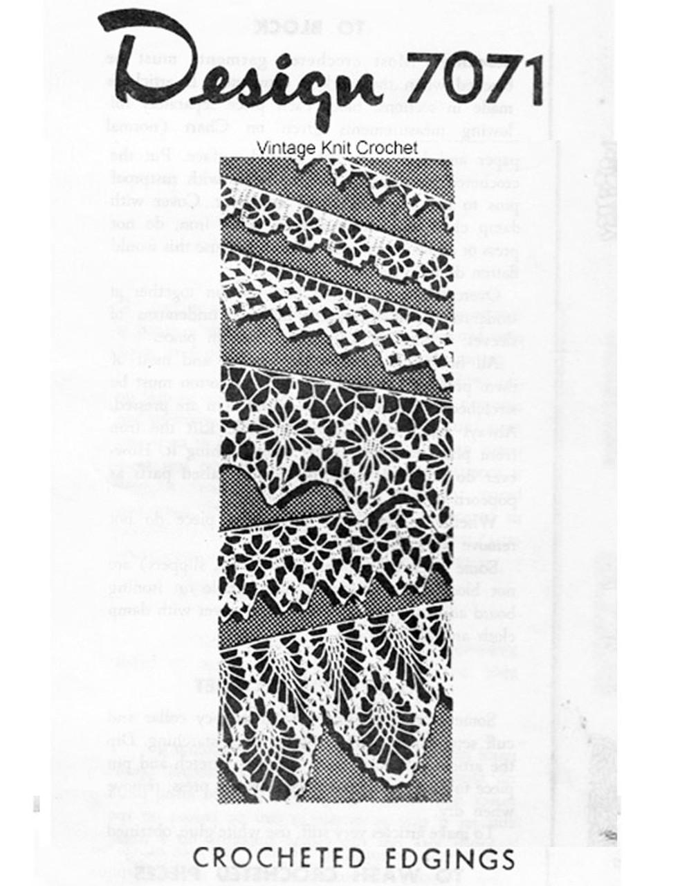 Spiderweb Crochet Edging pattern Design 7071