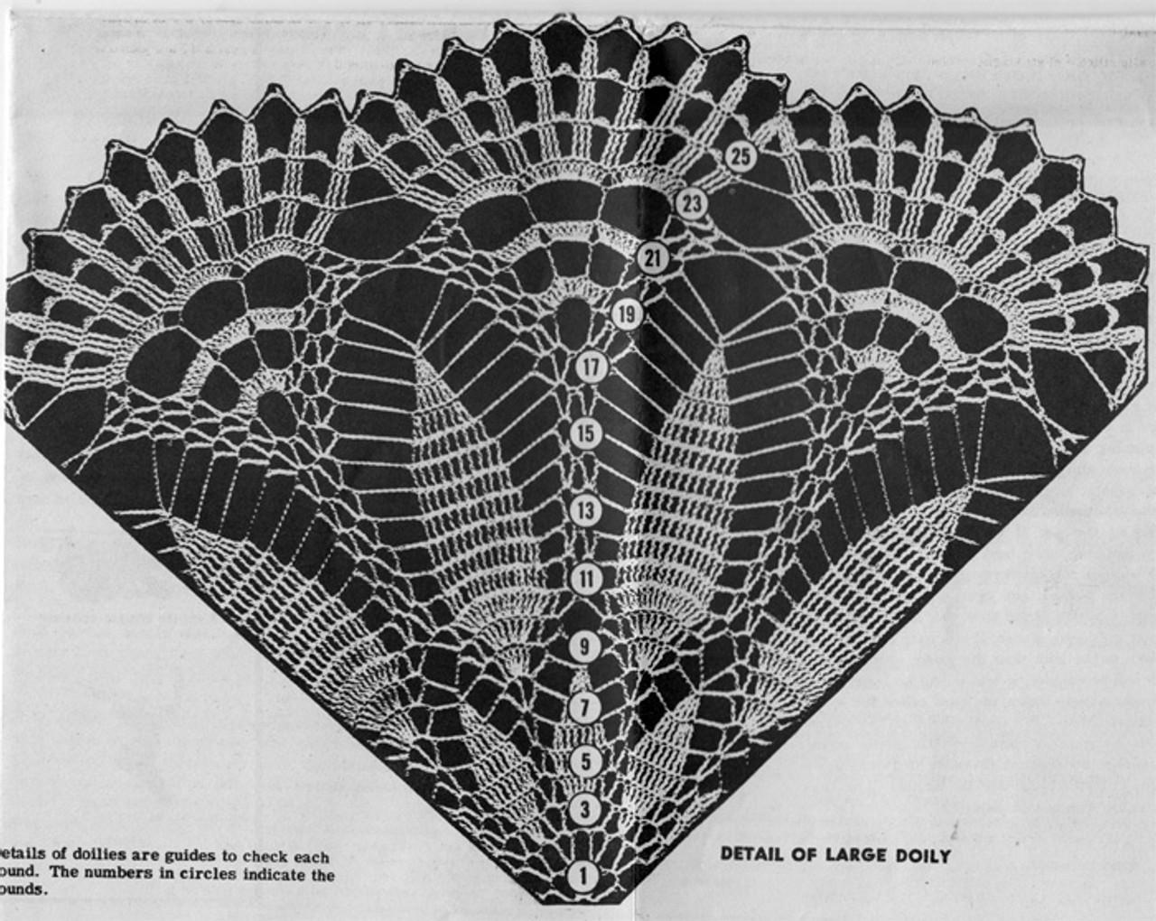 Large Doily pattern stitch illustration, Design 7225