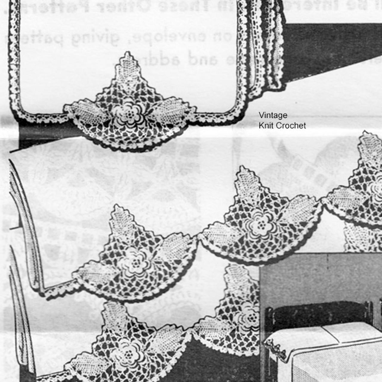 Mail Order Irish Rose Crochet Insert No R-2639