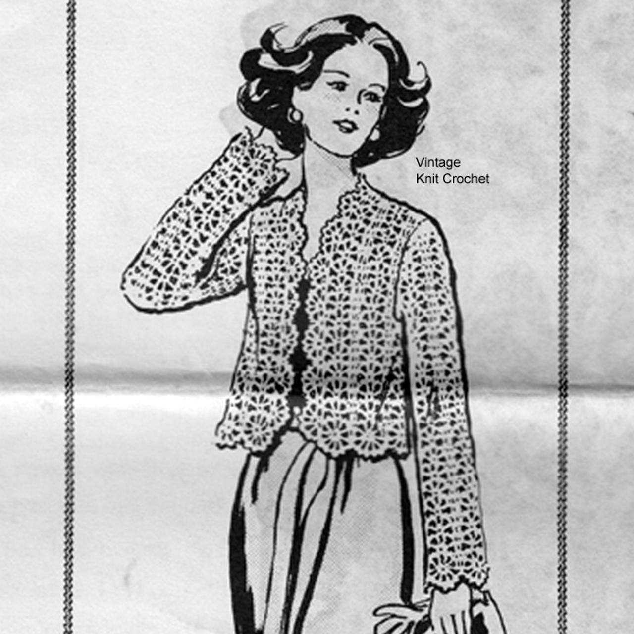 Mail Order 7230, Scalloped Jacket Crochet Pattern