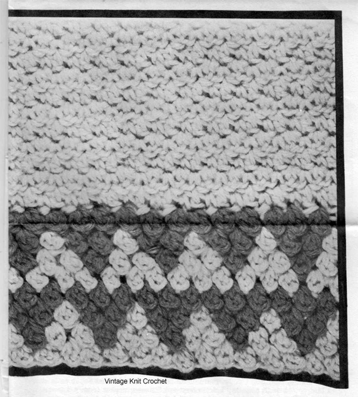 Crocheted Cape Pattern Stitch for Design 7231