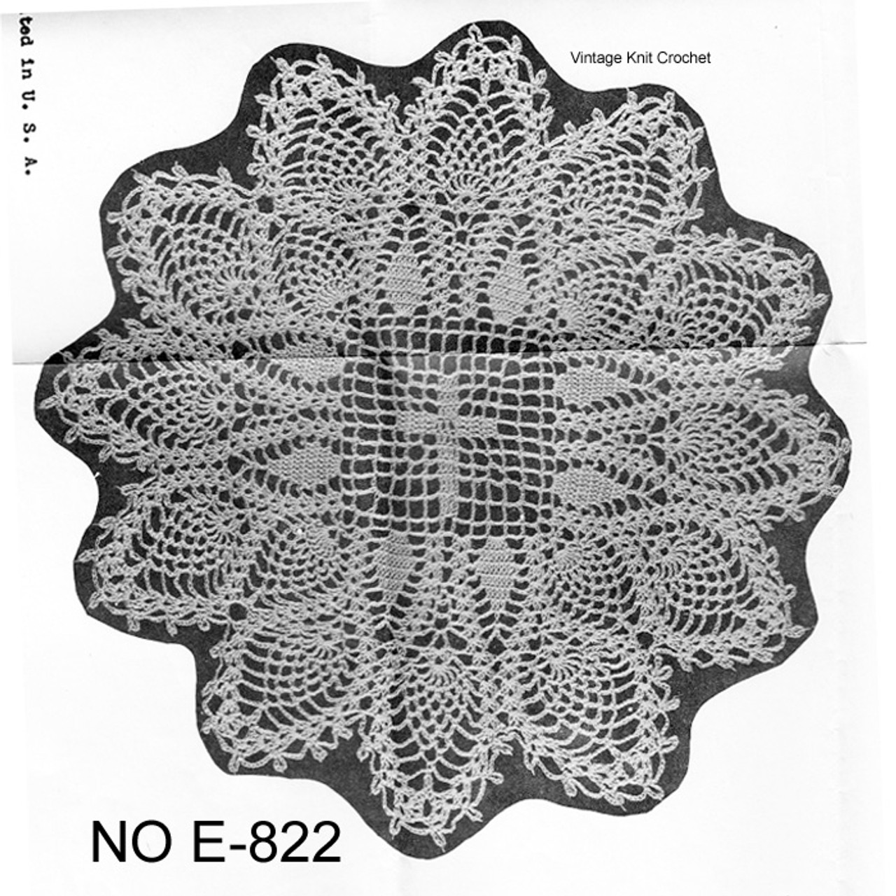 Mail Order 822 Crochet Bible Cover Doily Pattern