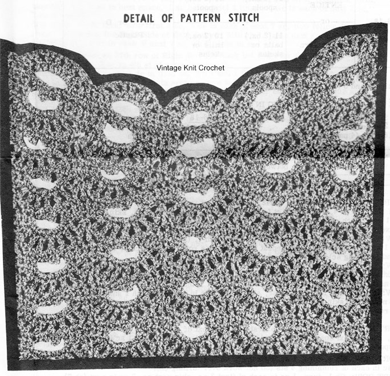 Shell Stitch Pullover Pattern Illustration, Design 7373