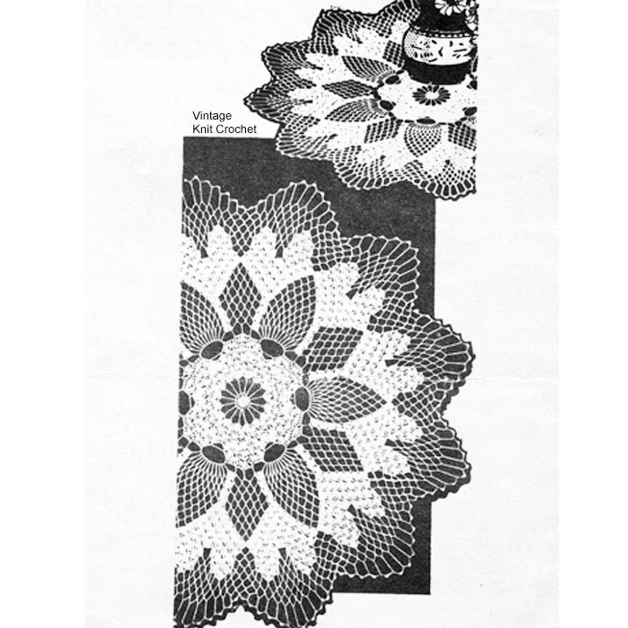 Large Crochet Flower Doily Pattern, Alice Brooks 7372