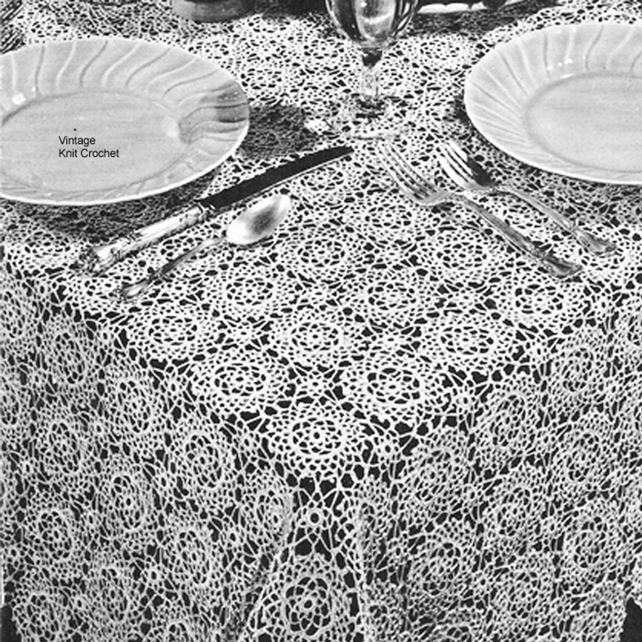 Easy Medallion Crocheted Tablecloth Pattern