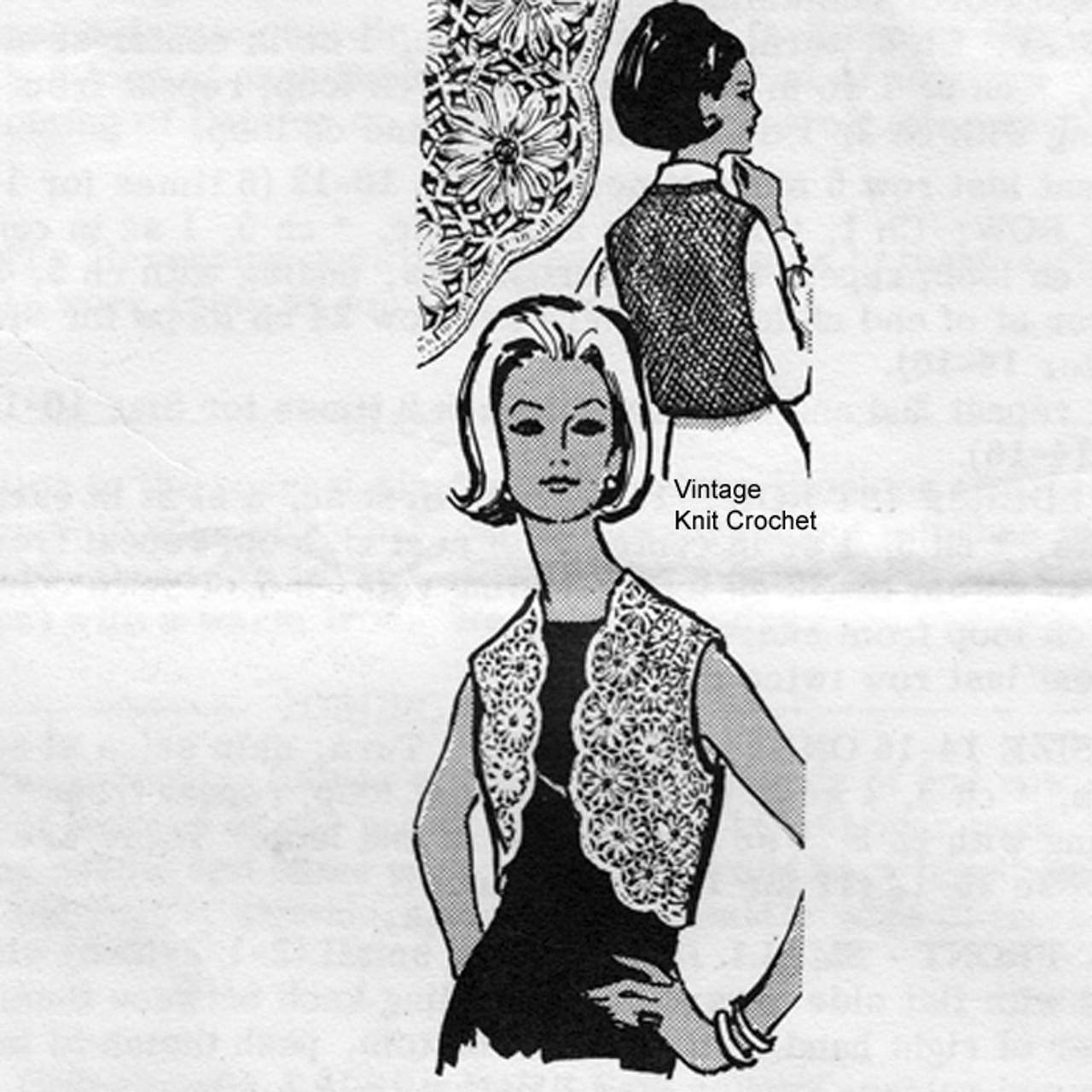 Mail Order Daisy Winder Vest Pattern Design 7188