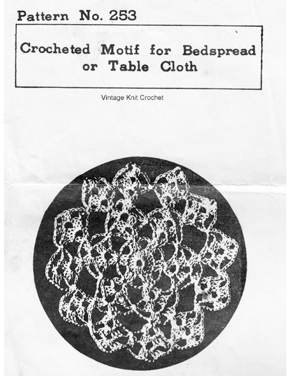 Mail Order 253, Crochet Medallion Pattern, Needlework Bureau, Ruth Orr