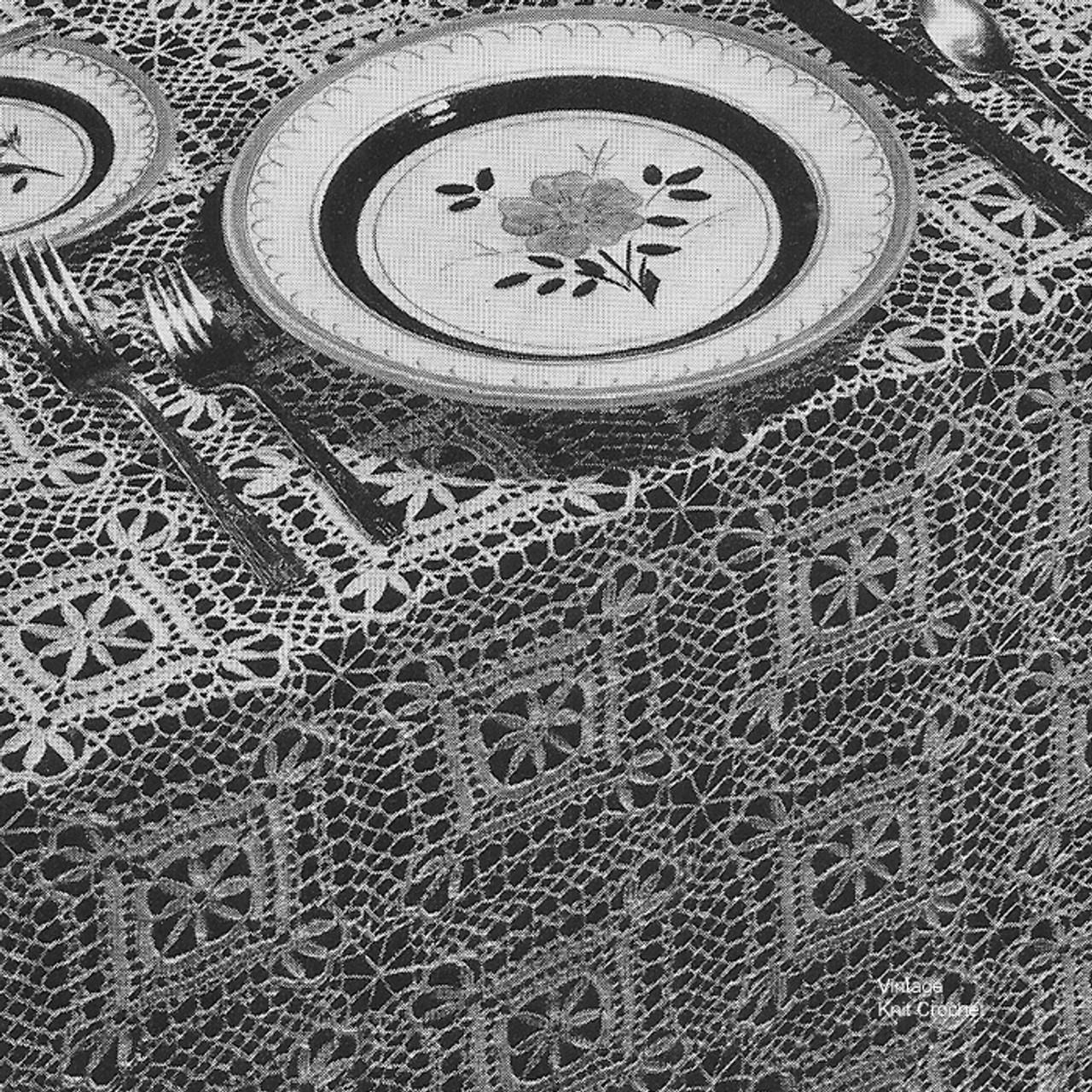 Vintage Dinner Cloth Crochet Pattern No  7736