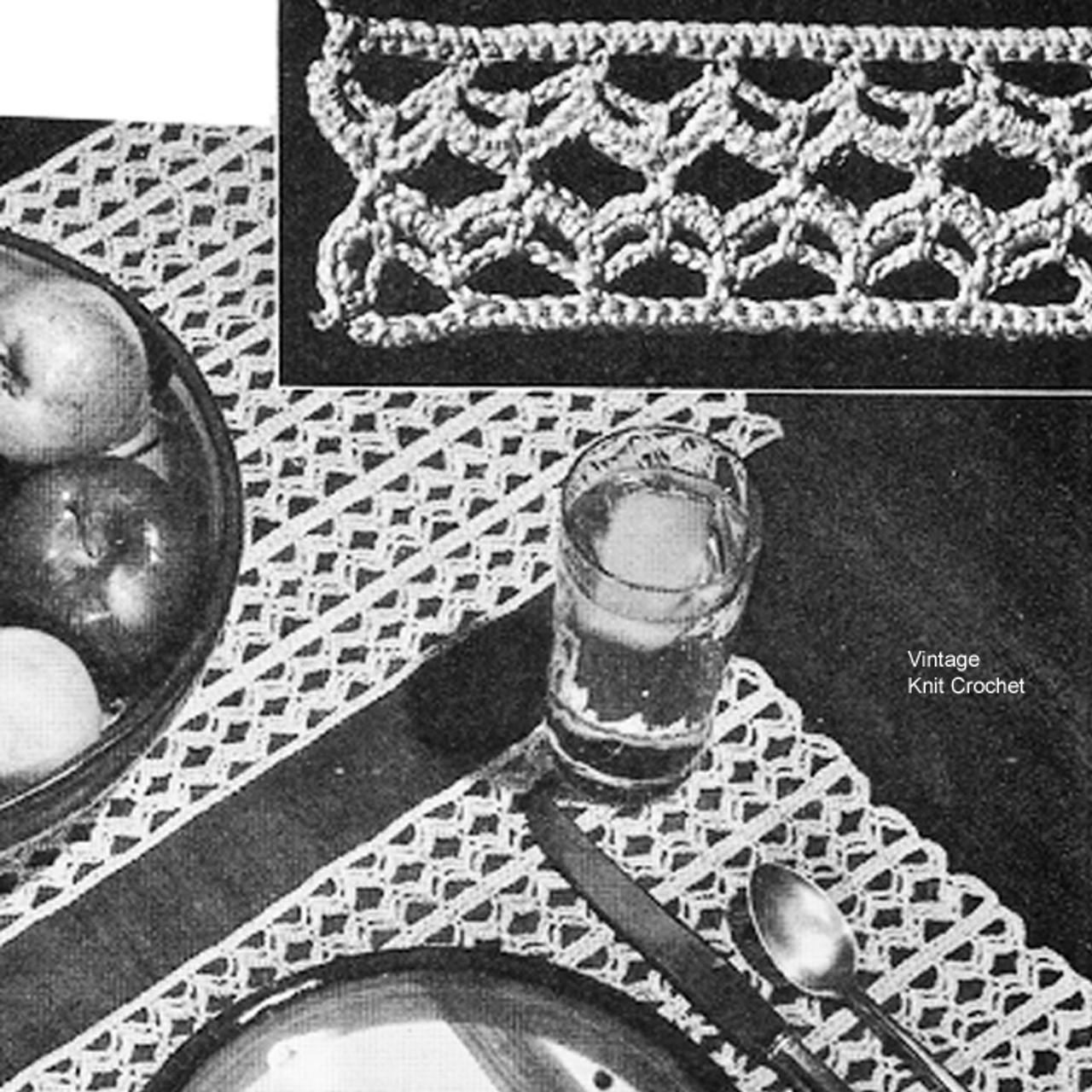 Easy Place Mats Crochet Pattern No 7748
