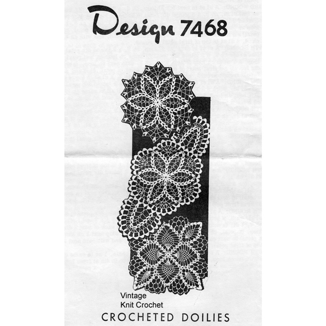 Mail Order Crochet Doilies Pattern in V and Petal Stitch