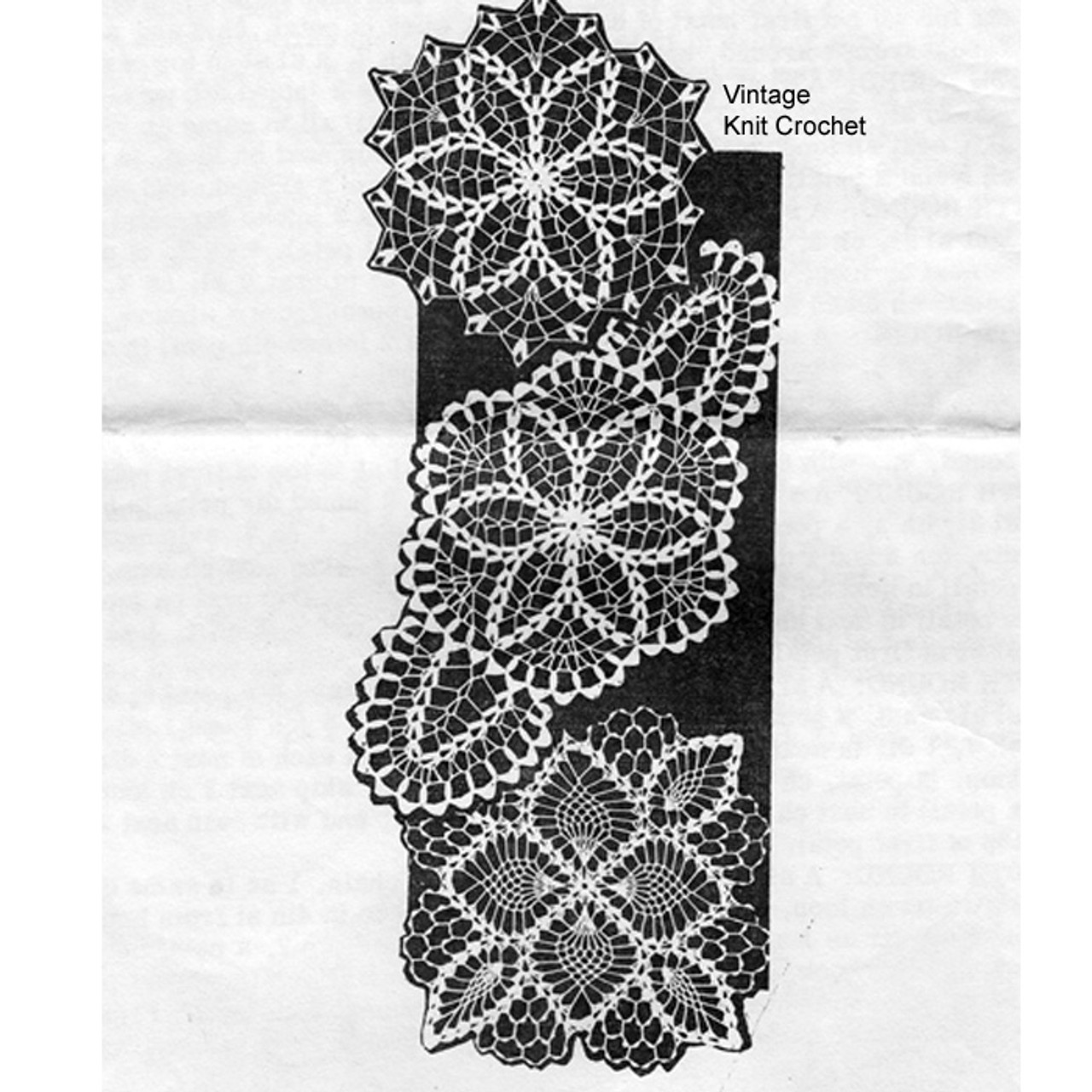 Mail Order Trio of Crocheted Doilies Pattern No 7468