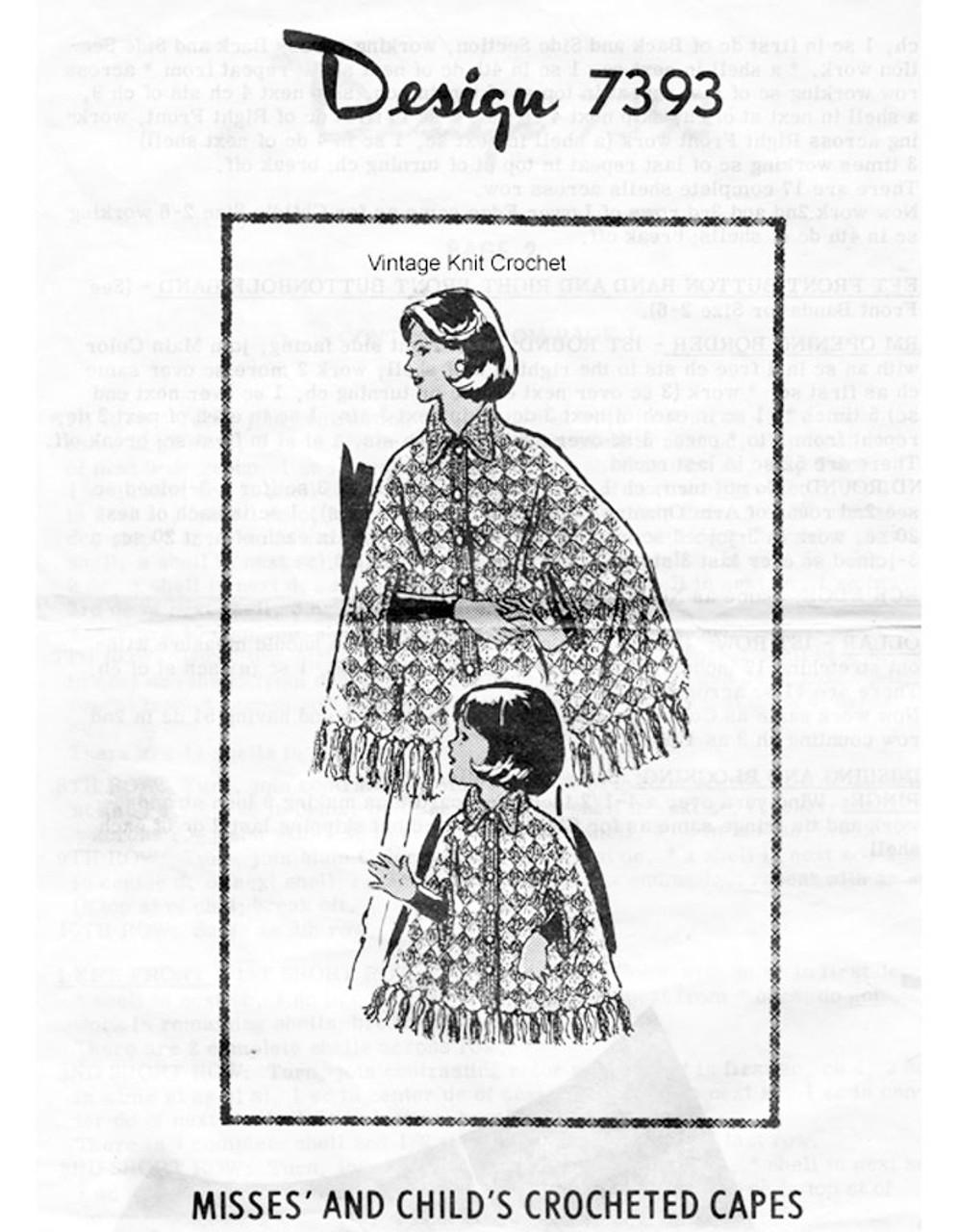 Crochet Capes Pattern, Shell Stitch, Alice Brooks 7393