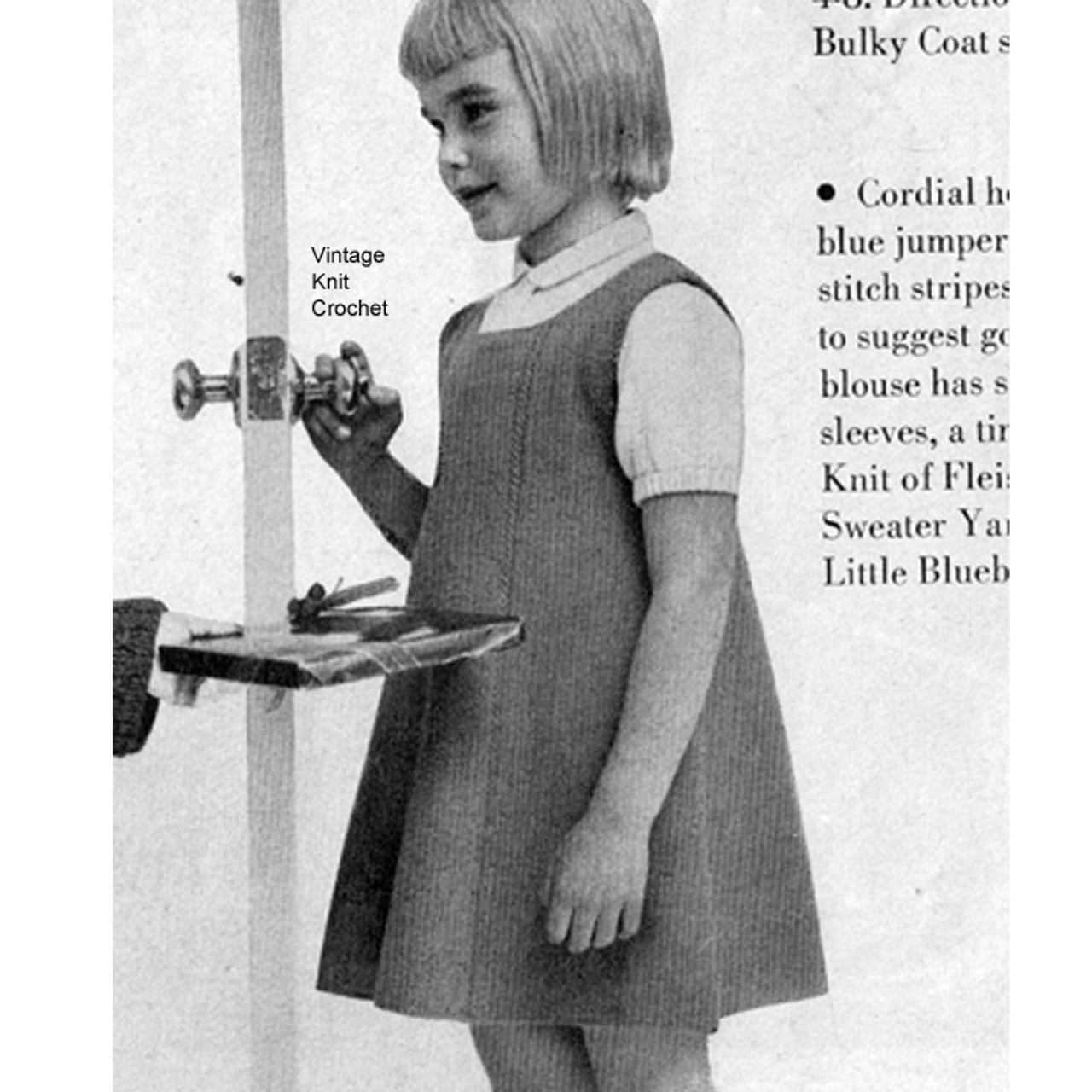 Girls Knitted Jumper Pattern with Puff Sleeve Blouse