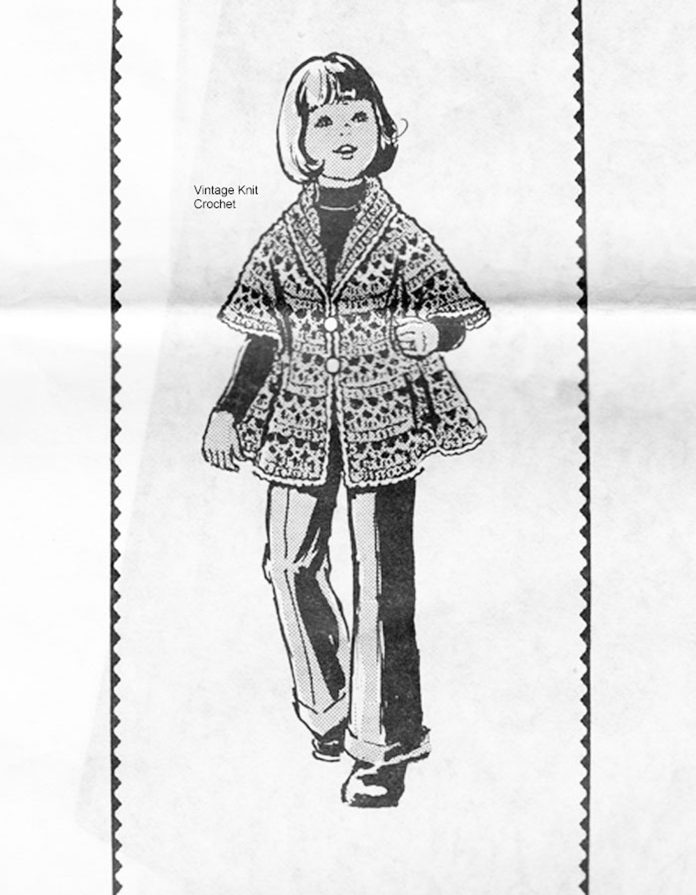 Girls Flared Coat Crochet Pattern, Alice Brooks 7497