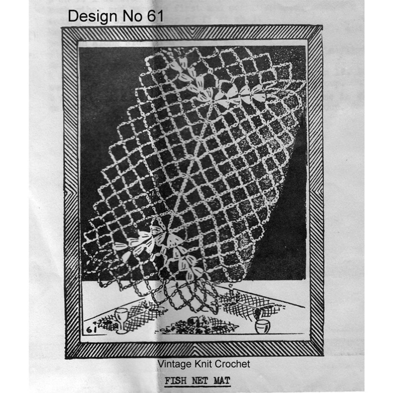Needlework Bureau 61, Fish Net Mats Pattern